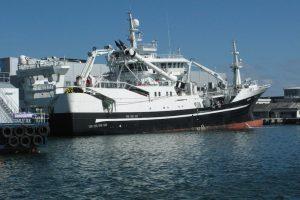 A Norwegian pelagic vessel alongside at Skagen - @ Fiskerforum