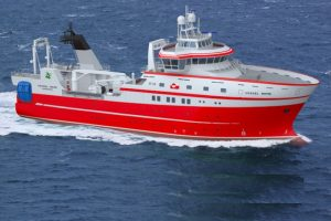 A new research vessel for the Greenland Institute of Natural Sciences is to be built in Spain. Image: Skipsteknisk - @ Fiskerforum