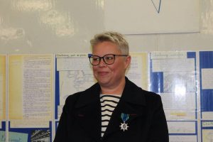 Sophie Leroy wearing the Order of Maritime Merit - @ Fiskerforum