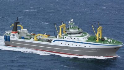 Tersan starts cutting steel for Russian Far East trawler