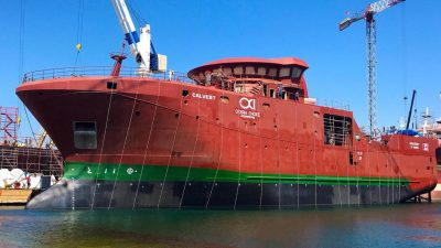 Ocean Choice's new trawler floated off at Tersan