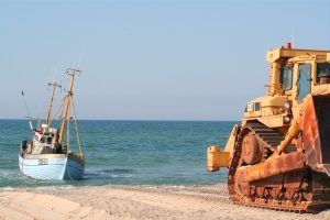 A beach boat at Thorup Strand - @ Fiskerforum