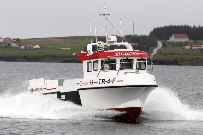Vigrunn being put through its paces before delivery. Image: Trefjar - @ Fiskerforum