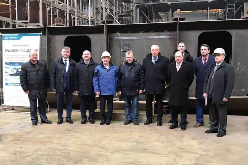 Second Norebo trawler's keel laid