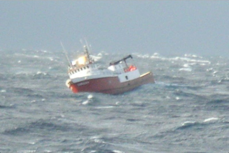 Alaska fishing crew airlifted to safety
