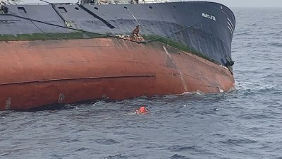 Crew and inspection team rescued from purse seiner