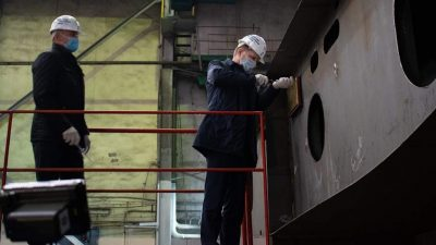 Shipyard's online keel-laying ceremony