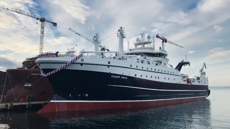 Read more about the article Russian Fishery Company takes delivery of first of new trawler series