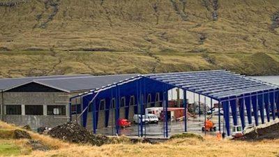 Expanding aquaculture capacity at Norðskála
