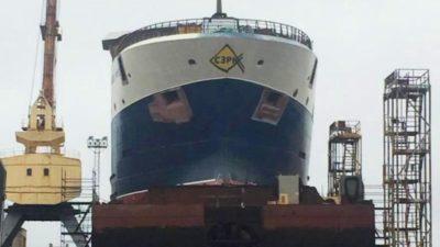 Vyborg yard launches factory trawler for Arkhangelsk Trawl Fleet