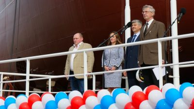 Vyborg launches Nord Pilgrim's lead trawler