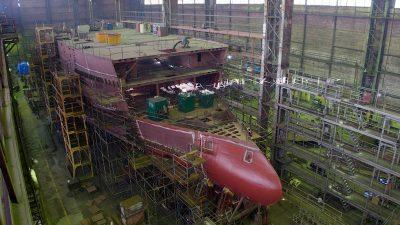 Freezer trawlers take shape at Vyborg yard