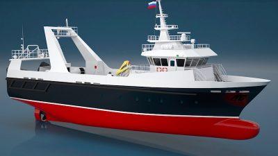 Vympel yard lays new coastal trawler's keel