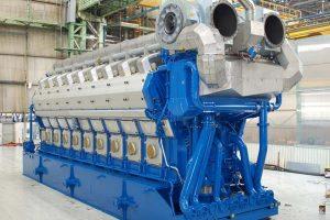 Wärtsilä's leadership in gas engine technology enhanced - more than 2000 engines sold and 7 million running hours accumulated    foto: Wärtzilä 50DF motor  Photo: Wärtzsilâ - @ Fiskerforum
