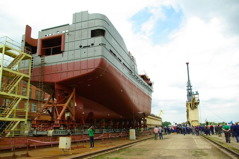 Third pelagic vessel launched at Kaliningrad yard