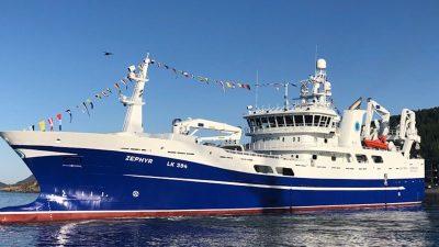 Zephyr delivered to Shetland owners