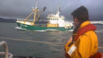 Irish Beam Trawler Involved in Collision