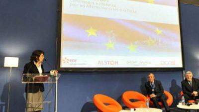 Commissioner Damanaki speaks at the Euromaritime in Paris
