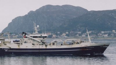 Crew evacuated from burning trawler in Russian waters