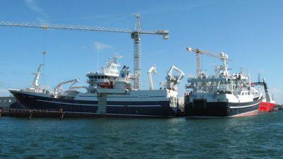 Blue whiting fleet S-W of St Kilda