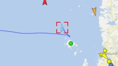 Trawler fire off Norwegian coast