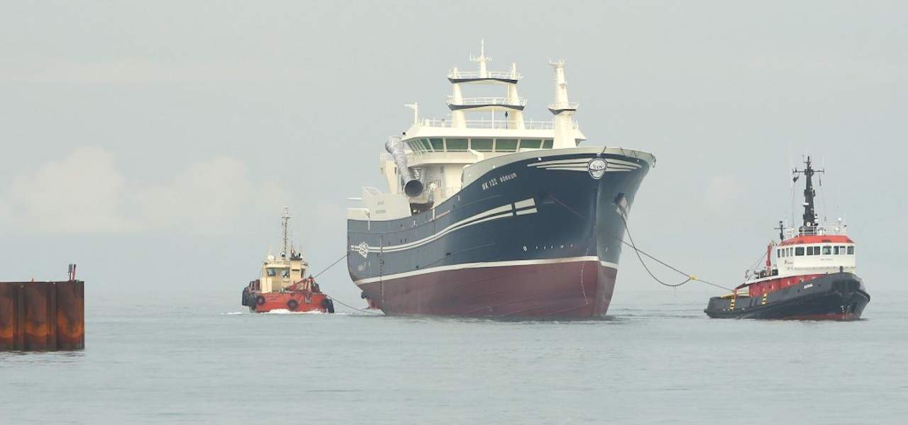 New Börkur arrives in Skagen for outfitting